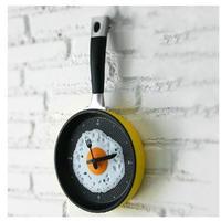 目玉焼き&フライパン型 壁掛け時計5色 おしゃれ インテリア ディスプレイ ウォールクロック 輸入雑貨