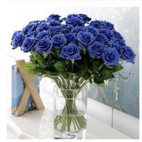 大量25本 バラ 9色 高級造花 アートフラワー シルクフラワー 花束 薔薇 ローズ アレンジメント ブーケ プレゼント お祝い 結婚式