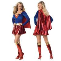 スーパーガール コスプレ 衣装 XS~XXL 女性用 ハロウィン スーパーマン 仮装 スーパーウーマン 忘年会 コスチューム