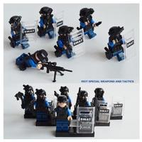 レゴ互換 特殊部隊 SWAT 大量武器パーツ ミニフィグ 6体セット LEGOブロック互換
