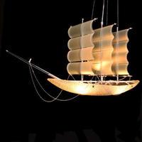 帆船デザイン LED ペンダントライト キッズルーム 天井照明 1ヘッド ロマン モダンスタイル 洋風 ルームライト アンビエントライト