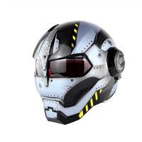 フルフェイス アイアンマンタイプ ウォーマシン メット ヘルメット デザイン アメコミ ユニーク
