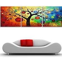 海外輸入 パネルアート -Colorful Tree of Harvest Art- インテリア 絵画 壁掛 タペストリ