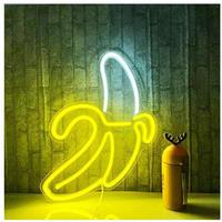 バナナ LED ネオンサイン USB接続 看板 ネオン管 店舗 BAR ガレージ ディスプレイ