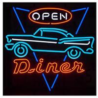 LED ネオンサイン OPEN DINER オープン ダイナー アメリカン 看板 ネオン管 店舗 BAR ガレージ ディスプレイ