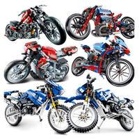 レゴ互換 テクニック オートバイ 8種類 バイク モトクロス アメリカンチョッパーバイク レーシングバイク LEGO互換品