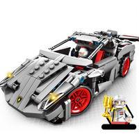 レゴ互換 プルバックカー ランボルギーニ LEGO互換品 おもちゃ クリスマス プレゼント