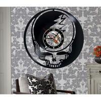 レコード盤壁掛け時計 Grateful Dead グレイトフル・デッド 人気 おしゃれ シルエットデザイン インテリア ディスプレイ 輸入雑貨