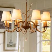 シャンデリア ヨーロッパスタイル 天井照明 おしゃれ LED ビンテージ モダン ベッドルーム 寝室 リビング 8ライト