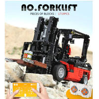 レゴ互換 テクニック フォークリフト RC クレーン モーターセット 1719ピース ラジコン仕様 LEGO互換品