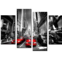 海外輸入 パネルアート -Red Taxis Canvas Art- インテリア 絵画 壁掛 タペストリ