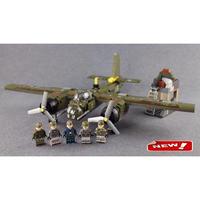 レゴ互換 ミリタリー ドイツ空軍 双発爆撃機 ユンカース Ju-88A LEGO互換品 おもちゃ クリスマス プレゼント