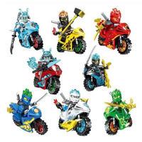 レゴ互換 ニンジャゴー 忍者とバイク各8台セット LEGO互換品 クリスマス プレゼント