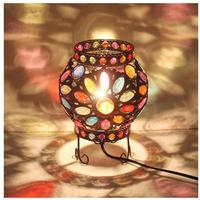 テーブルランプ 地中海デザイン トルコ LED 調光 ベッドサイドランプ テーブル スタンド照明 ステンドグラス ボヘミアン ヴィンテージ アンティーク