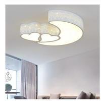 ハート ムーンシェイプ キュート キッズルーム シーリングライト LED モダンスタイル 天井照明 選べる4カラー