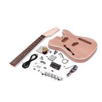 Muslady TL テレスタイル エレキギター DIYキット マホガニーボディ Fサウンドホールメイプルウッド ネックローズウッド指板