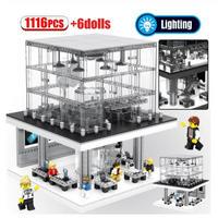 レゴ互換 アップルストア LEDライトブロック6個付き 1116ピース LEGO互換