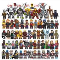 レゴ互換 アベンジャーズ ミニフィグ 大量60体セット おまけ4種類付き LEGO互換 アイアンマン スパイダーマン