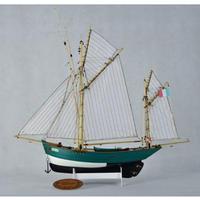 模型 帆船 フレンチヨット ルーシー 木製 船 モデルキット 1/50スケール 組み立て式 プラモデル