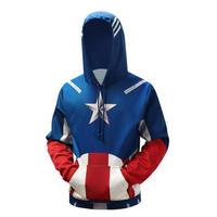 アベンジャーズ インフィニティ ウォー キャプテンアメリカ パーカー 2色から選択 S~5XL