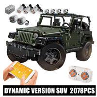 レゴ互換 まるでラジコン ジープ ラングラー アドベンチャー オフロード トラックモデル 2078ピース LEGO互換品 RCカー おもちゃ 誕生日プレゼント