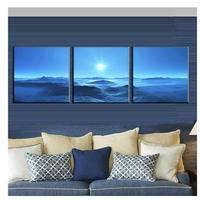海外輸入 パネルアート -Sunset Blue Sea Canvas Art- インテリア 絵画 壁掛 タペストリ