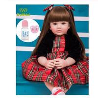 高級リボーン ベビードール リアル赤ちゃん 抱き人形 シリコーン ビニール 赤ちゃん 女の子 プリンセス 60センチ