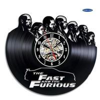 ワイルド・スピード 30cm レコード盤 壁掛け時計 3種類 映画 人気 おしゃれ エコ インテリア ディスプレイ シルエット アート 輸入雑貨