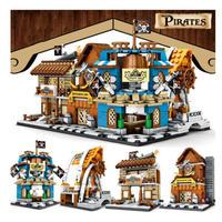 レゴ互換 パイレーツ BAR ミニモジュール式 4点セット  LEGO互換品 ブロック おもちゃ 誕生日プレゼント