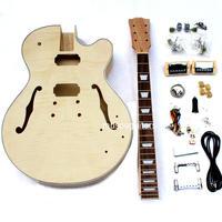 未塗装 DIY 自作ギターキット ホローボディ セミアコ フルアコエレキギター