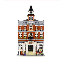 LEGO レゴ クリエイター 10224 互換 タウンホール ミニフィグ付き