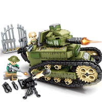 【LEGO レゴ互換】フランス ルノーFT-17軽戦車 ミリタリーブロック模型