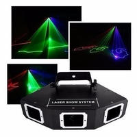 AUCD DMX 3レンズRGBフルカラービーム光ネットワークレーザー光ホームパーティーDJ KTVプロジェクターステージ照明A-X3