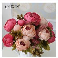 造花 シルクフラワー ピンク系 6種類 大輪 アンティーク風 牡丹 芍薬 バラ アートフラワー ブーケ花束 アレンジメントにも