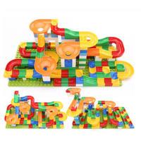 レゴ互換 デュプロ ルーピングコースター ビー玉転がし 176ピース 玉ころがし ビーズコースター スロープトイ 知育玩具 ブロック おもちゃ プレゼント