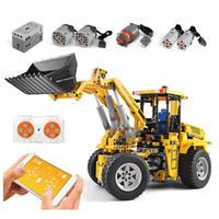 レゴ互換 ホイールローダー ラジコン仕様 1572ピース 重機 ブルドーザー LEGO互換品