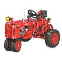 レゴ互換 テクニック レトロ トラクター 耕運機 レッド LEGO互換品