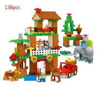 レゴ互換 デュプロのまち サバンナ ジャングルのどうぶつ 自然の動物園セット 138ピース LEGO互換品