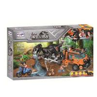 LEGO互換 恐竜 ブロック ジュラシックワールド インドラプトル 食虫植物 恐竜島シリーズ トラックと恐竜 レゴ互換