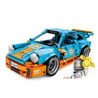 レゴ互換 プルバックカー ポルシェ 911 LEGO互換品 517ピース おもちゃ 誕生日プレゼント