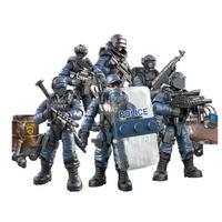 レゴ互換 1:36 スワット 警察 ミニフィギュア ブロックセット 480ピース 軍事都市 武器 特殊部隊 swat 兵士 LEGO互換品