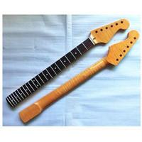 テレキャスタータイプ エレキギター ネック 22フレット タイガーフレームメープル ローズウッド