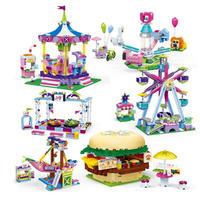 レゴ互換 遊園地 アトラクション メリーゴーランド 観覧車 ハンバーガー パイラット 2505ピース LEGO互換品 知育玩具 おもちゃ 誕生日プレゼント