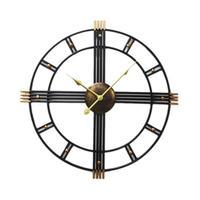 時計 壁掛け 3D ヴィンテージ ローマ錬鉄製 レトロ DIY お洒落 面白 輸入雑貨 インテリア 高性能