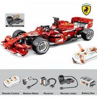 レゴ互換 フェラーリ F1 まるでラジコン パワーファンクション付き レゴブロック LEGO互換品