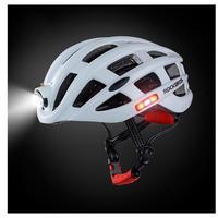 サイクリングヘルメット 自転車 ライト付 超軽量ヘルメット 5色 自転車 MTB ヘルメット 男女兼用 USB充電