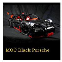 レゴ互換 ブラックポルシェ 911 GT3 RS 42056 テクニック LEGO互換品