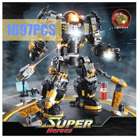 レゴ互換 マーベルアベンジャーズ ハルクバスター スーパー・ヒーローズ 1697ピース MARVEL AVENGERS LEGO互換品