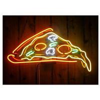 ネオンサイン LED ピザ PIZZA 43×35㎝ 看板 照明器具 ネオン管 飲食店 ピザ屋