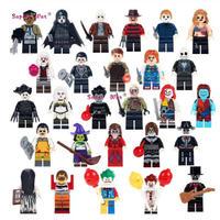 ホラーシリーズ ミニフィグ 大量27体 レゴ互換 LEGO ブロック ジェイソン ゾンビ ドラキュラ ハロウィン ピエロ ジョーカー